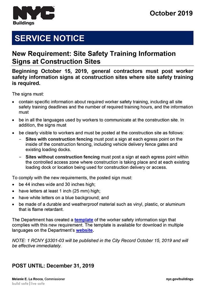 Site Safety Orientation log